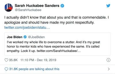 Joe Biden stotteren